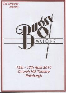 Bugsy Malone Flyer