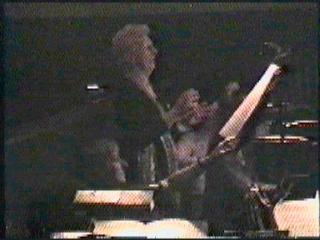 Betty in the Orchestra Pit doing what she loved, conducting.