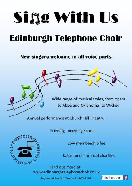 Recruitment to The Edinburgh Telephone Choir.