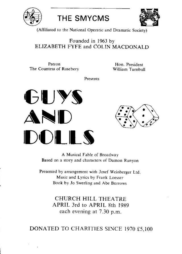 Guys and Dolls Program