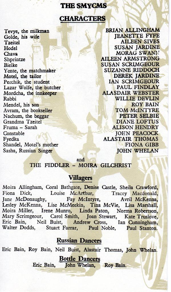 Cast List